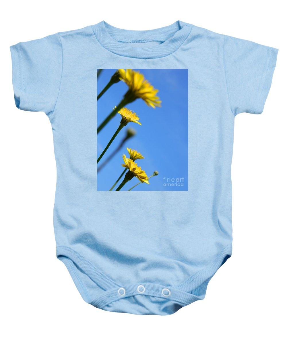 Flower Baby Onesie featuring the photograph Dancing With The Flowers by Andrea Anderegg