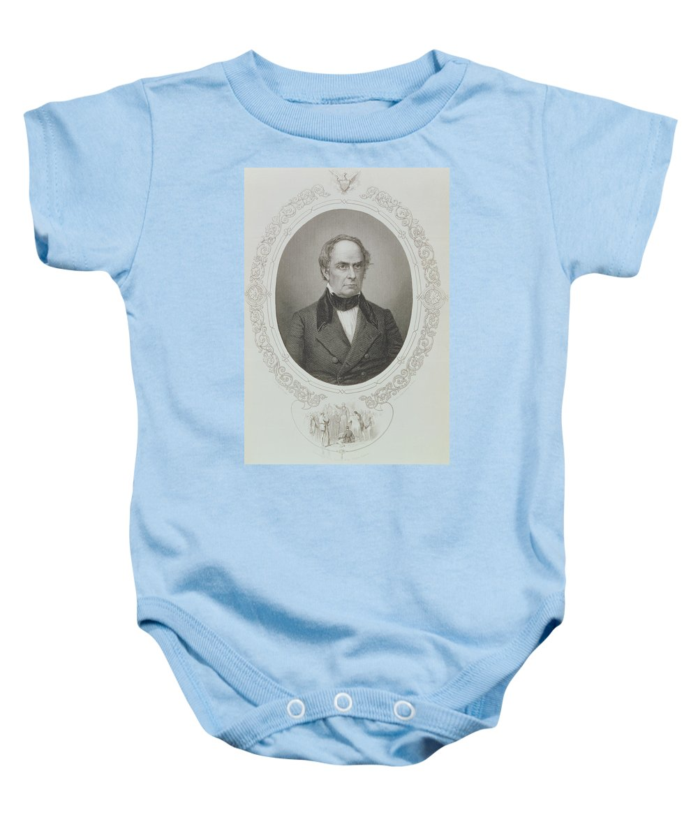 American Politician Baby Onesie featuring the photograph Daniel Webster, From The History Of The United States, Vol. II, By Charles Mackay, Engraved By T by Mathew Brady