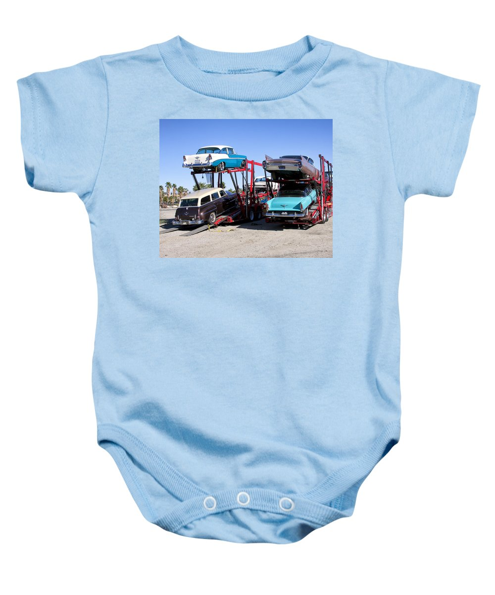 Baby Onesie featuring the photograph Detroit Iron 2 by William Dey