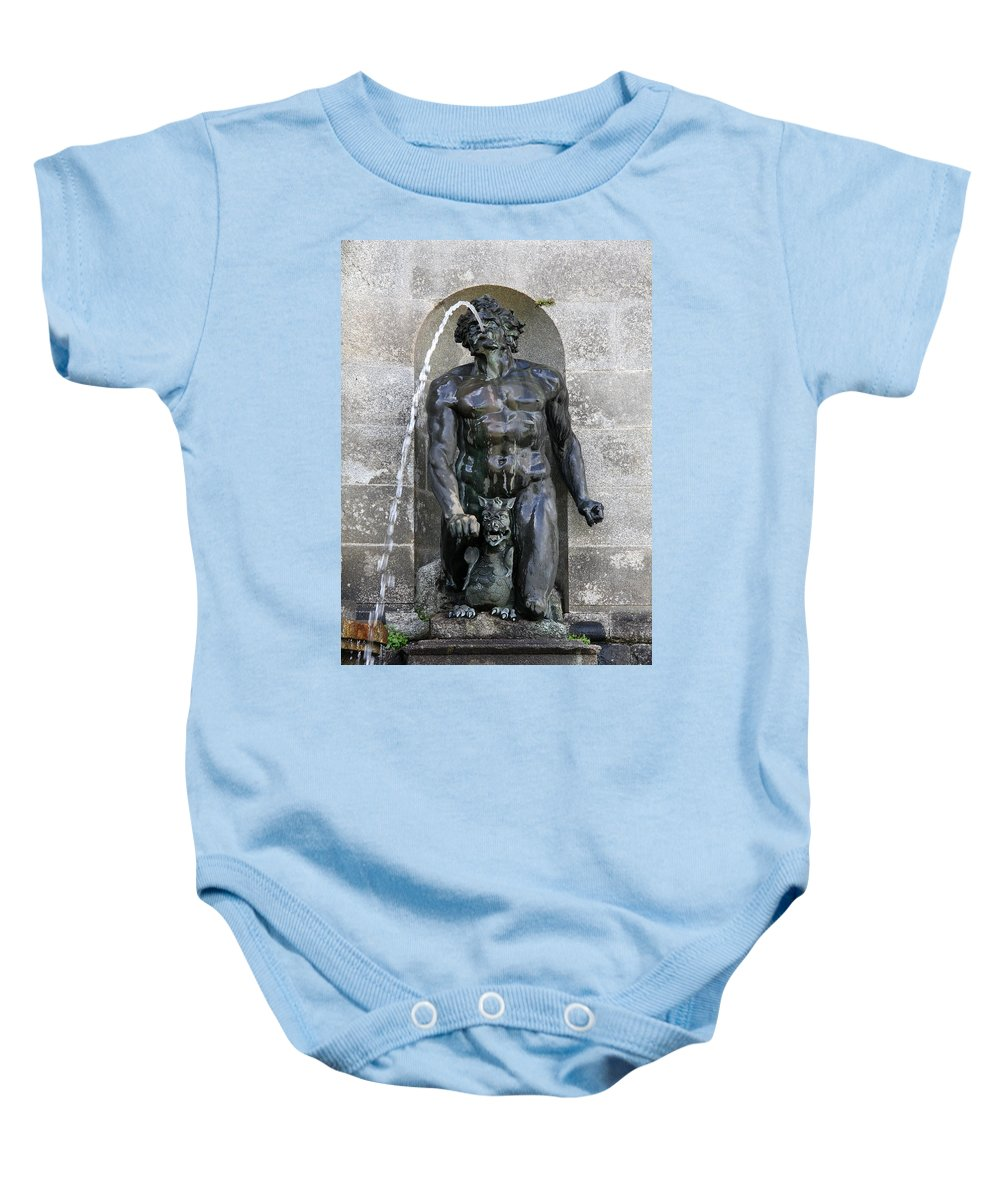 Fountain Baby Onesie featuring the photograph Divine Fountain by Christiane Schulze Art And Photography
