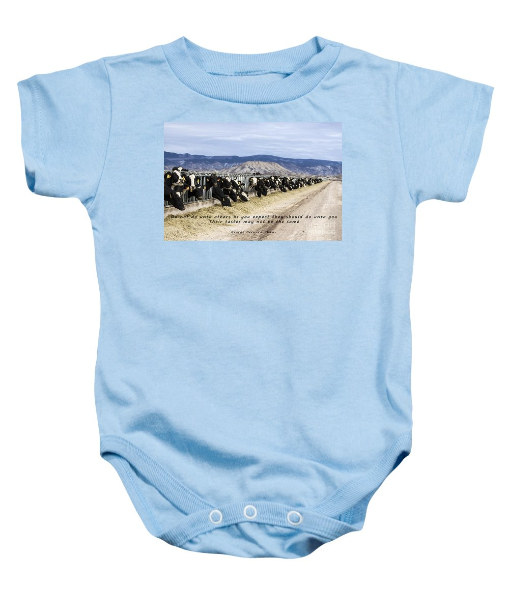 Animals Baby Onesie featuring the photograph Do Not Do Unto Others by Janice Pariza