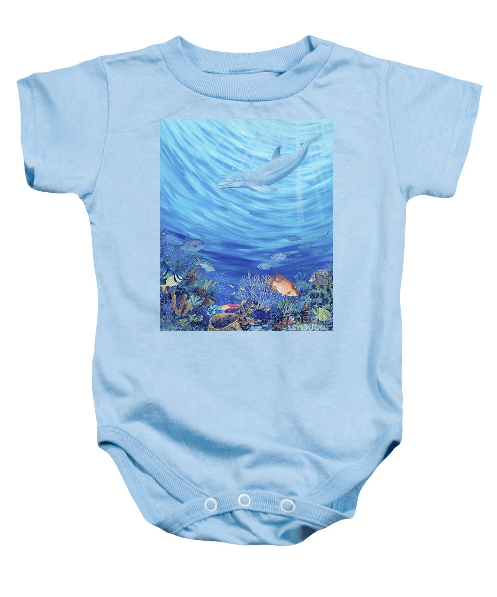Florida Baby Onesie featuring the painting Dream Reef by Danielle Perry