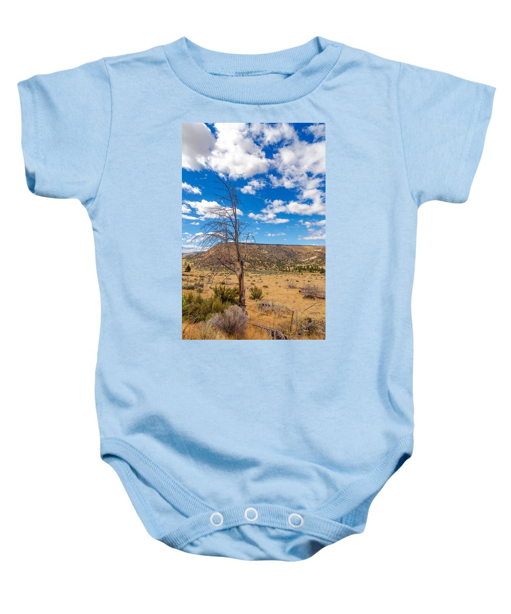 Desert Baby Onesie featuring the photograph Dry Landscape by Jess Kraft