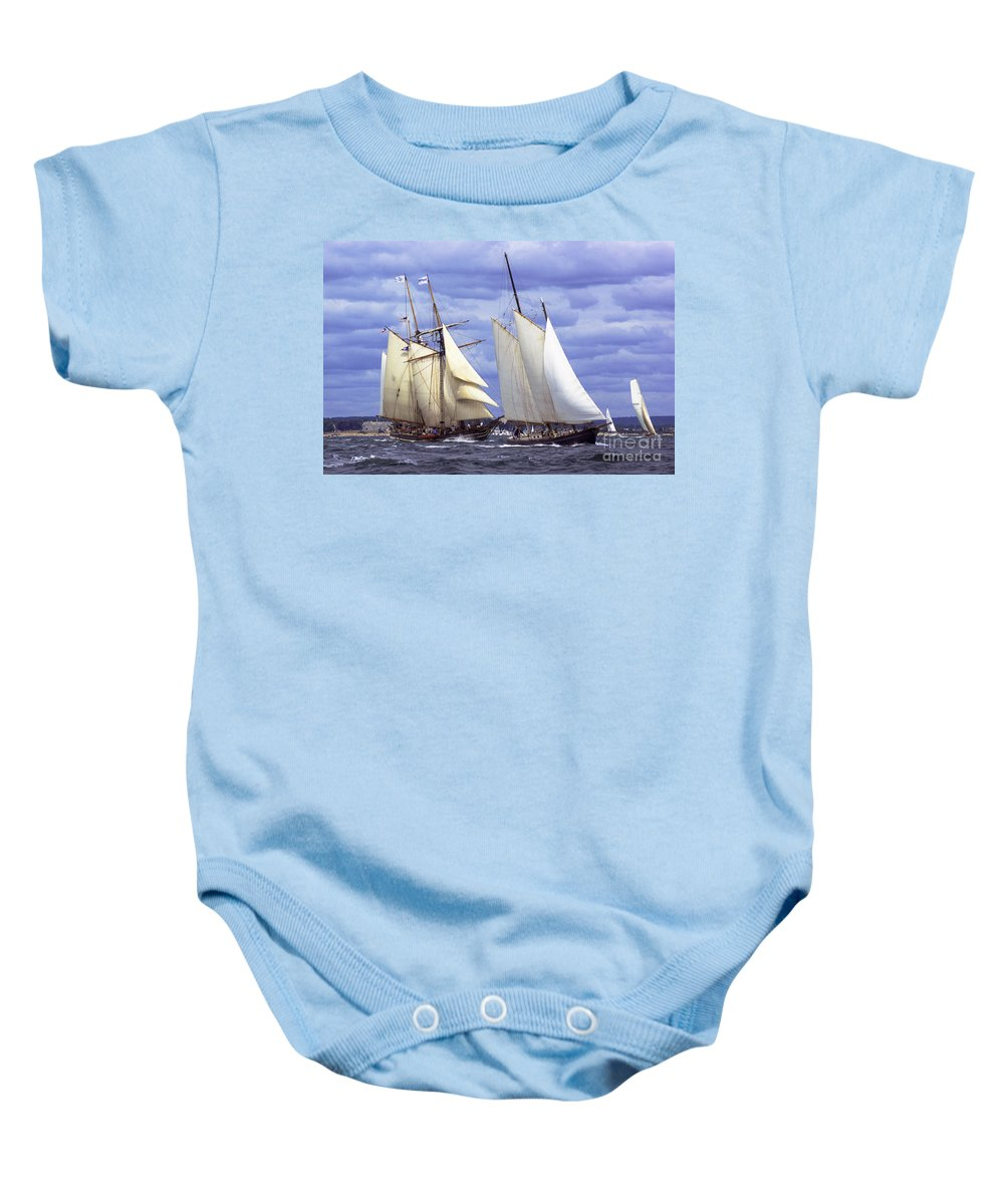 Amistad Baby Onesie featuring the photograph Early Contenders by Joe Geraci