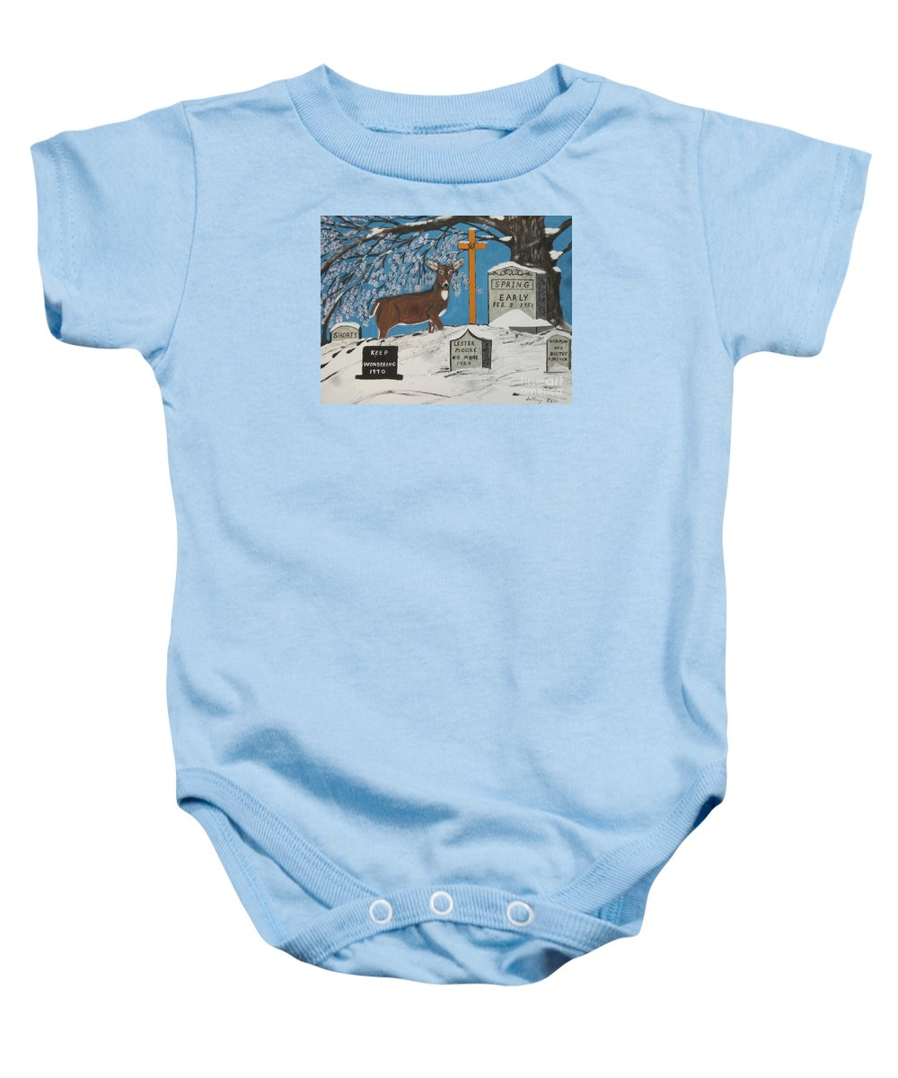 Tree Baby Onesie featuring the painting Early Spring by Jeffrey Koss