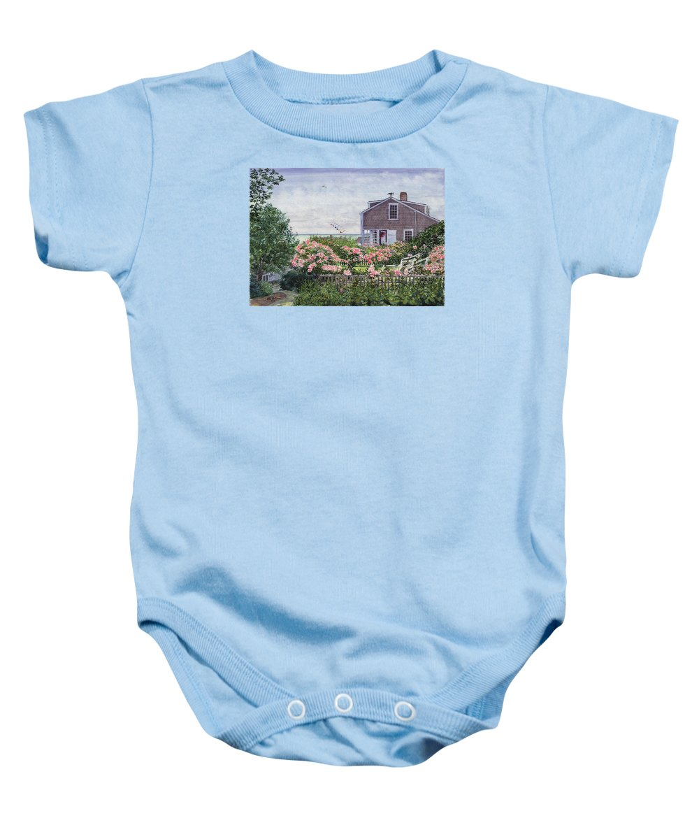 Nantucket Baby Onesie featuring the painting Eastward Look by Bill McEntee