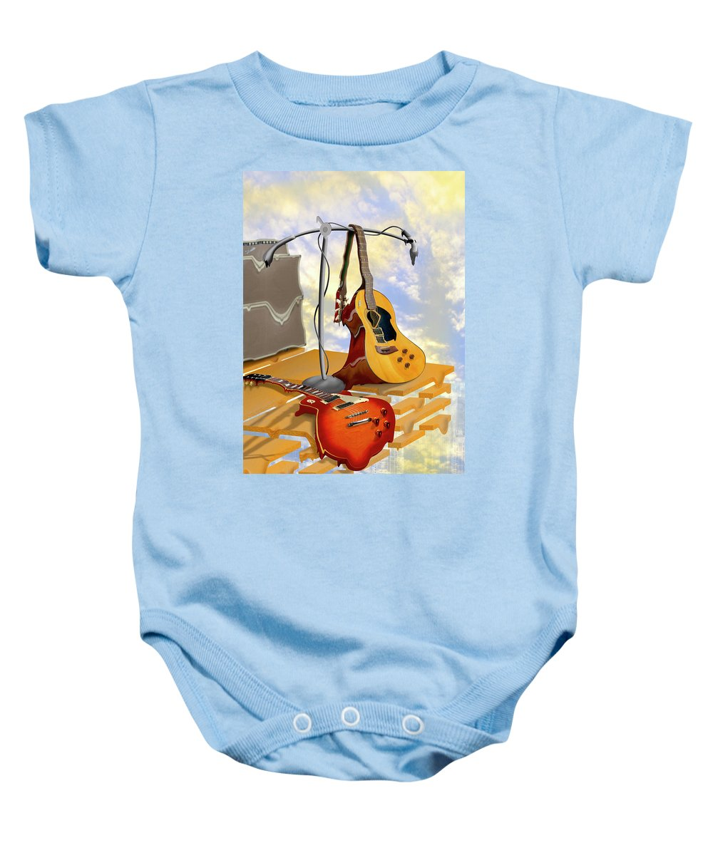 Rock And Roll Baby Onesie featuring the photograph Electrical Meltdown by Mike McGlothlen