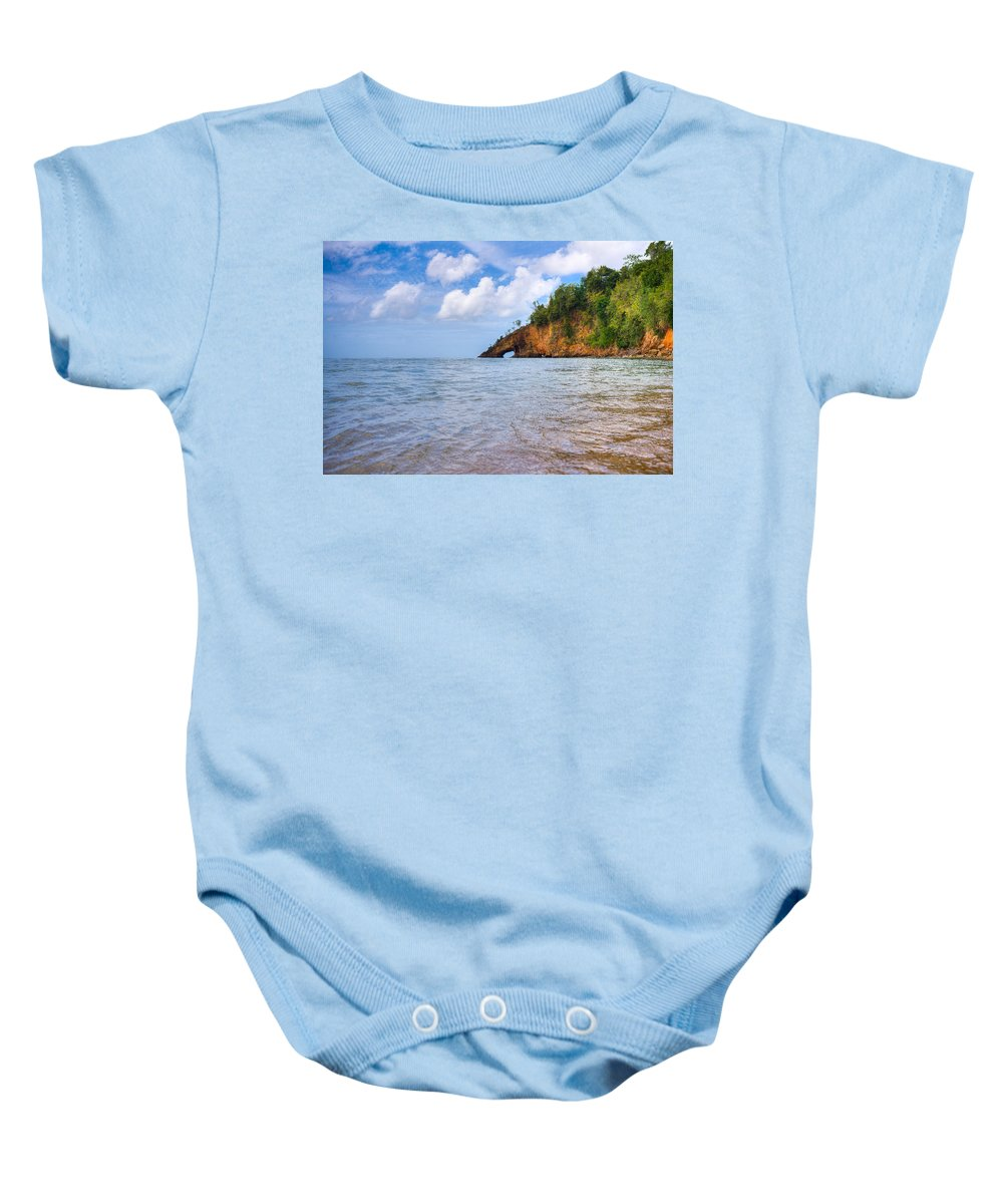 Saint Lucia Baby Onesie featuring the photograph Eye-land Ciceron St. Lucia by Ferry Zievinger