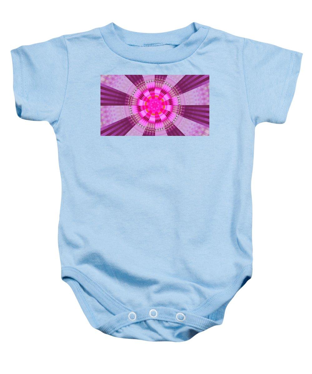 Pink Baby Onesie featuring the digital art Eye Of The Urkle by Bobbie Barth