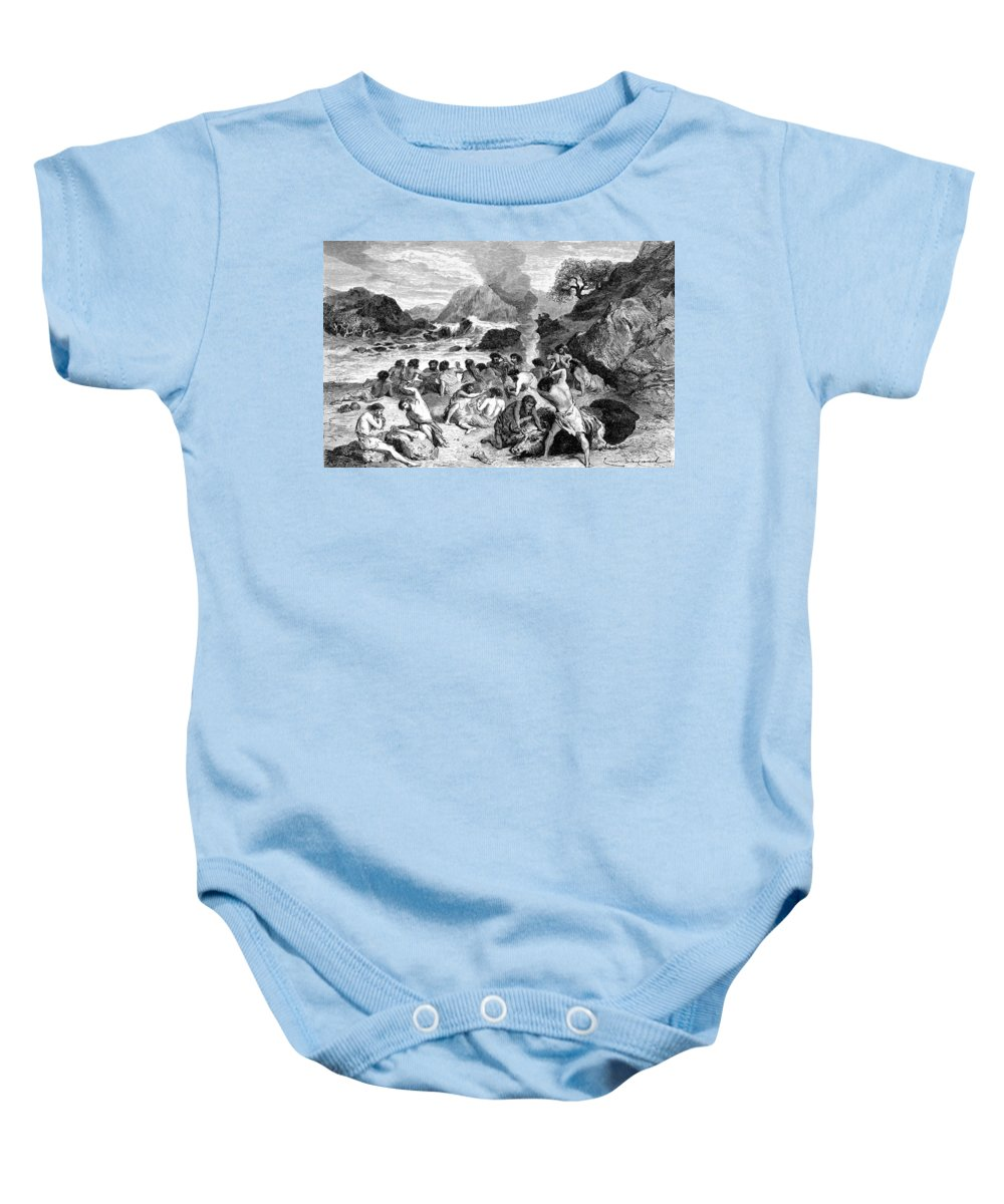 Stone Age Baby Onesie featuring the photograph Feast During The Reindeer Epoch by British Library