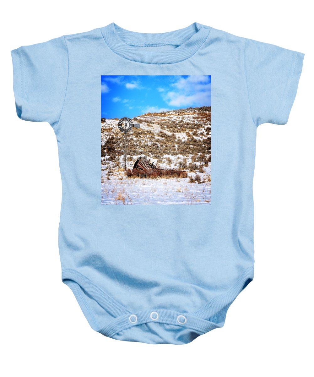 Idaho Baby Onesie featuring the photograph Feeling The Wind by Image Takers Photography LLC - Laura Morgan
