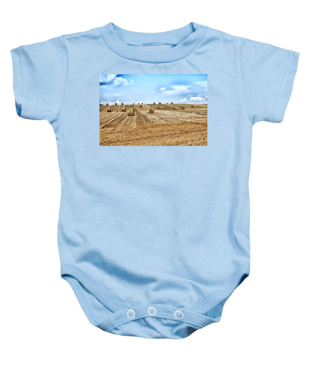 Sky Baby Onesie featuring the photograph Fields Of Summer by Mountain Dreams