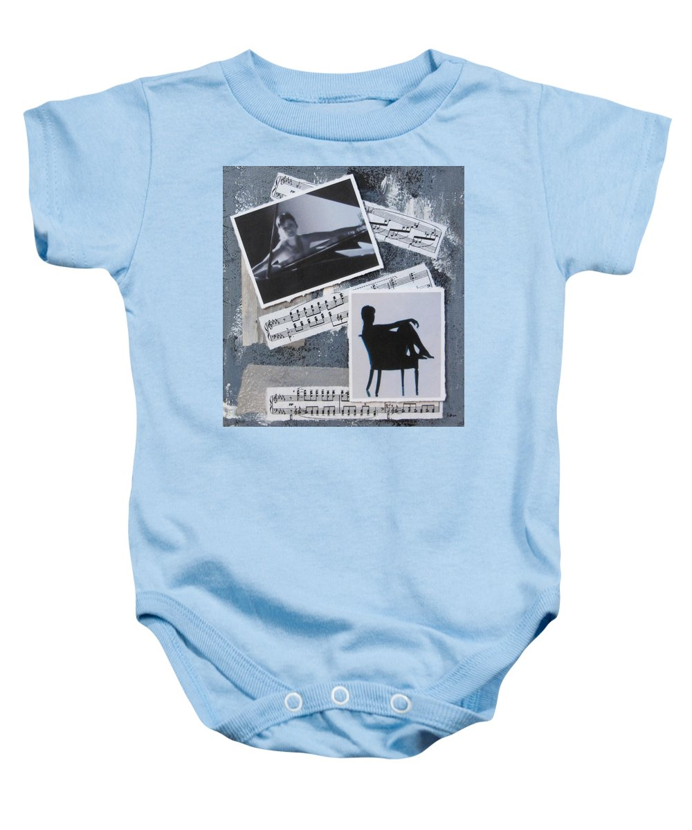 Photos Baby Onesie featuring the mixed media Figures by Anita Burgermeister