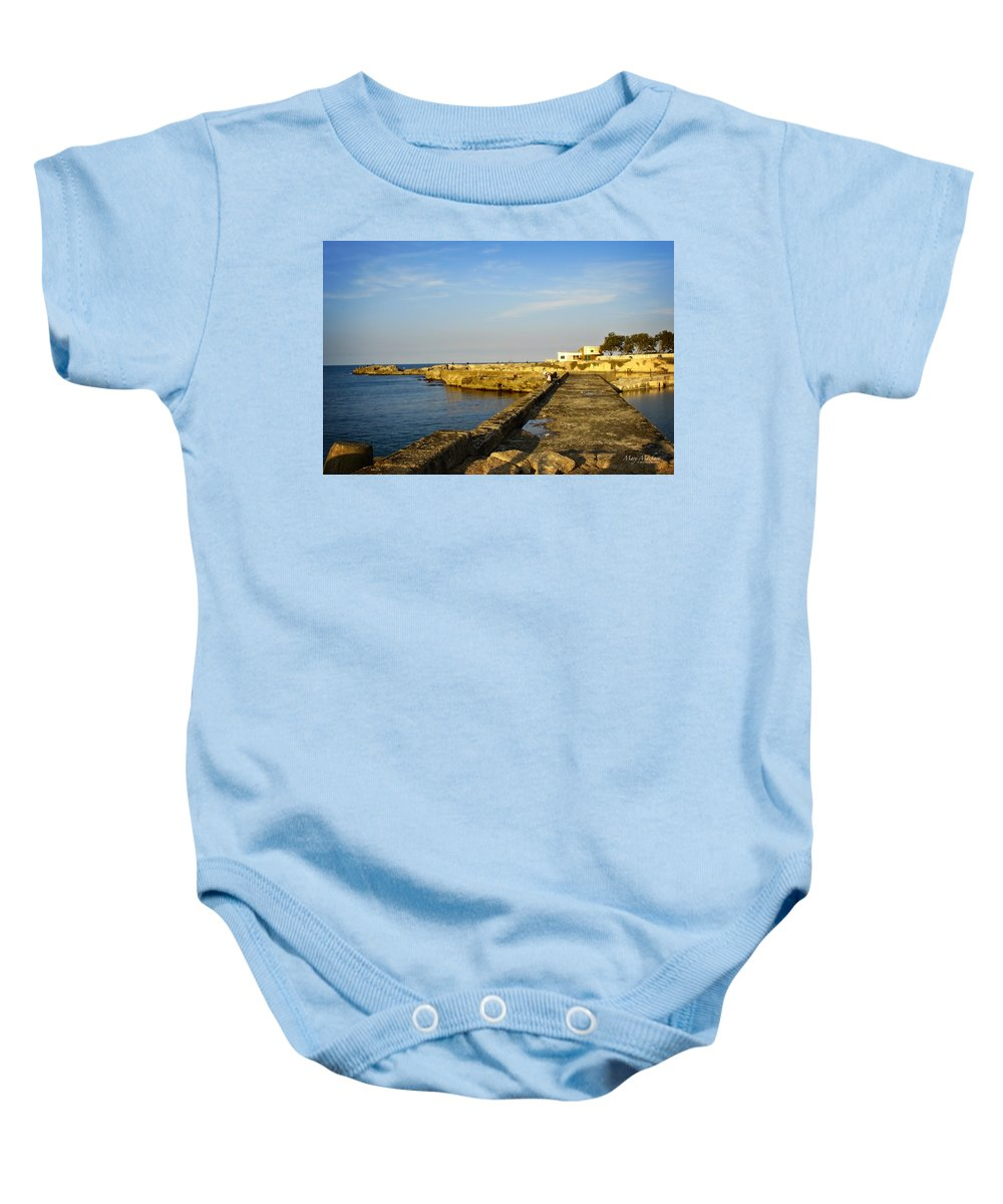 Fishing Baby Onesie featuring the photograph Fishing - Alexandria Egypt by Mary Machare