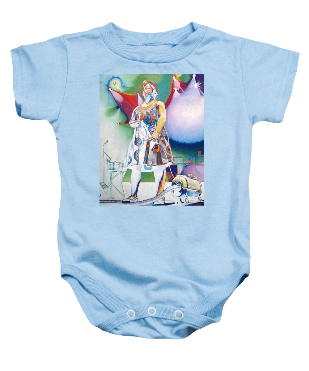 Phish Baby Onesie featuring the drawing Fishman And Vaccum by Joshua Morton