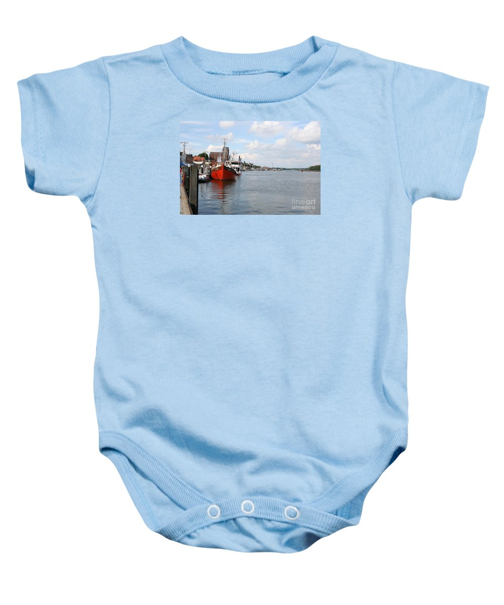 Fjord Baby Onesie featuring the photograph Fjord Schlei - Kappeln by Christiane Schulze Art And Photography