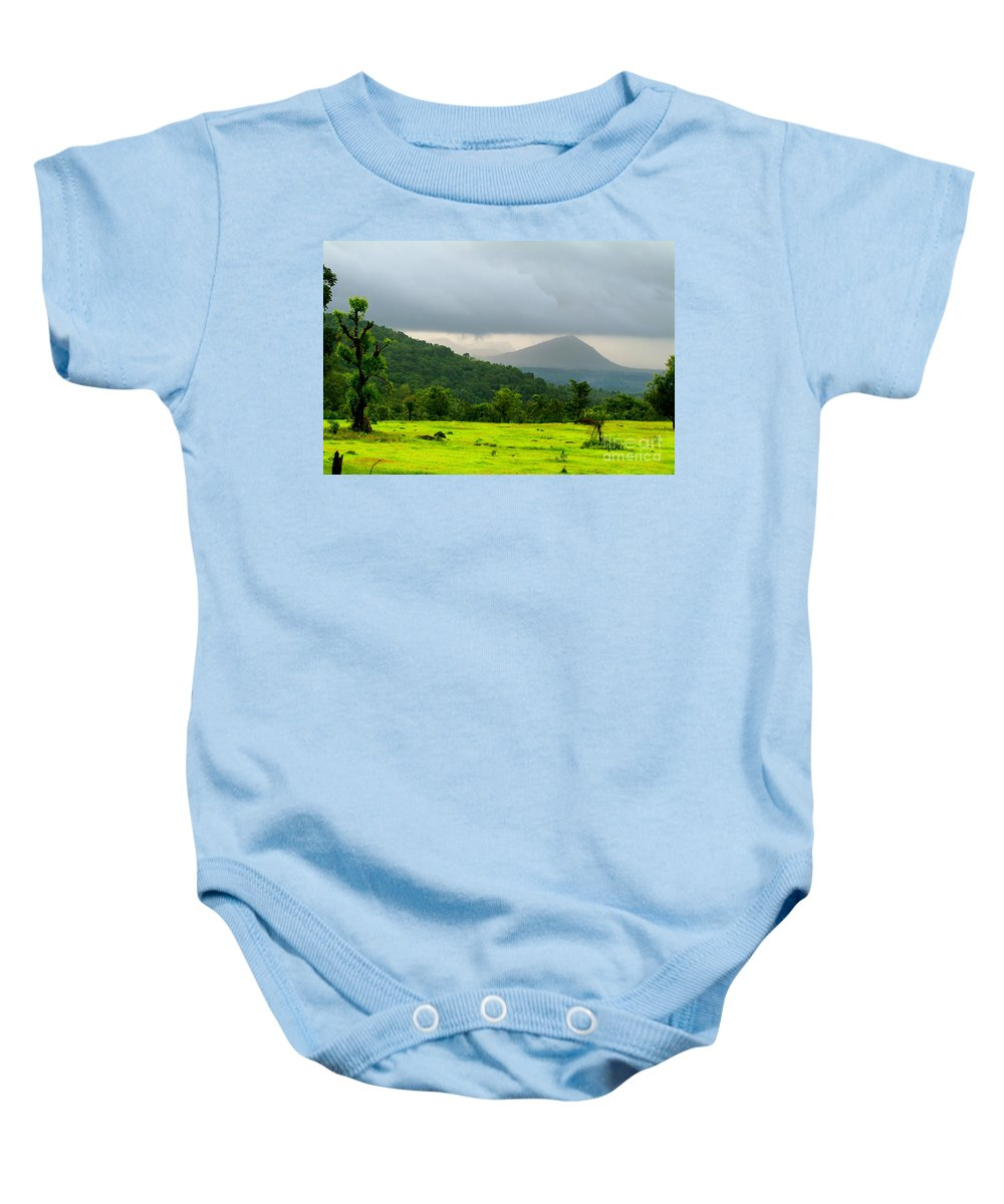 Fluorescent Baby Onesie featuring the photograph Fluorescent by Dattaram Gawade