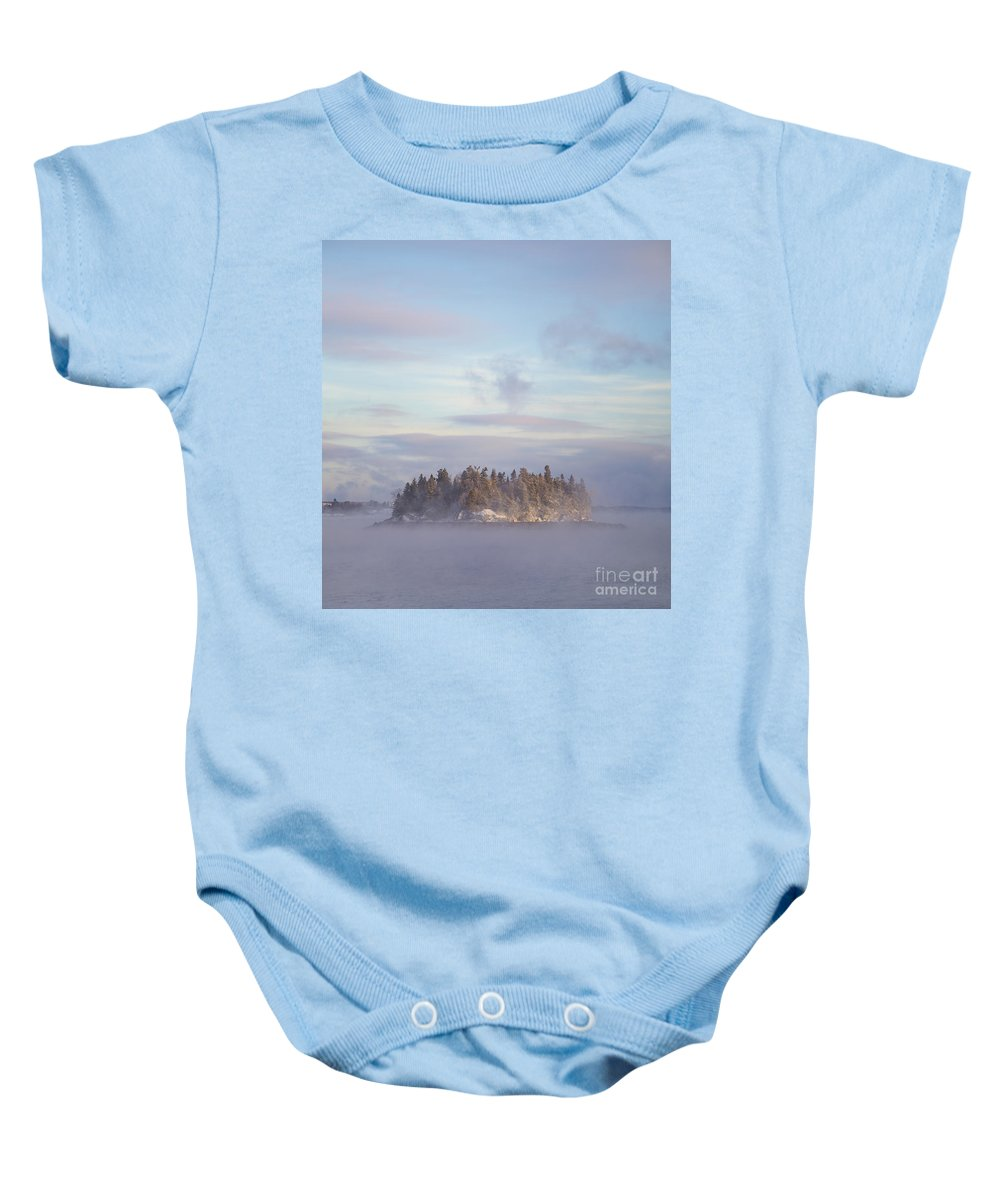 Fog Baby Onesie featuring the photograph Fogscape by Evelina Kremsdorf