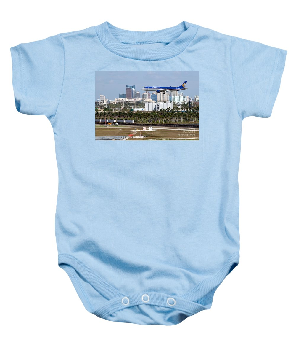 Fll Baby Onesie featuring the photograph Fort Lauderdale Hollywood International Airport by Bill Cobb