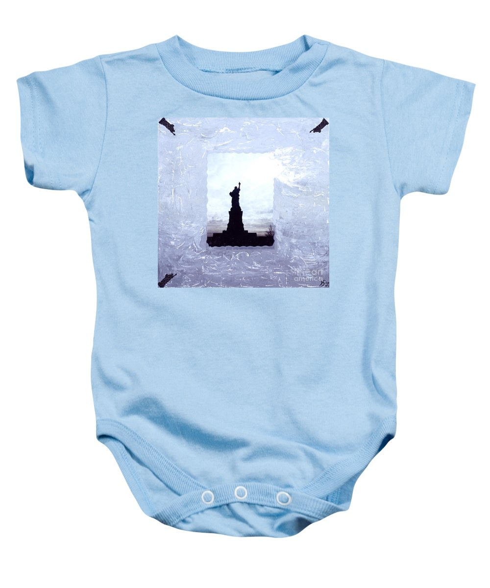 Spiritual Art Baby Onesie featuring the painting Freedom Lady by Heidi Sieber