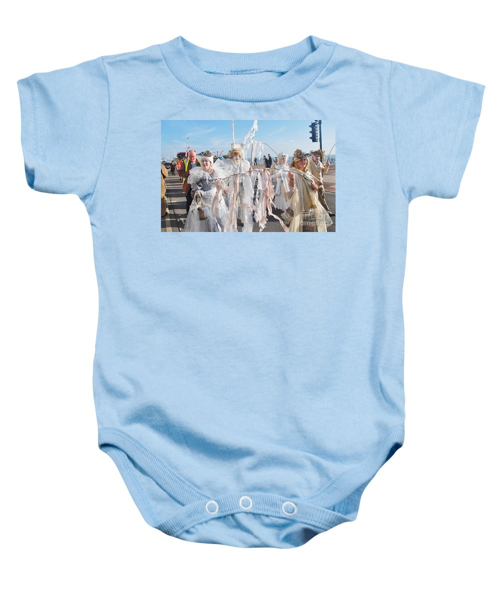 People Baby Onesie featuring the photograph Frost Fair Parade At St Leonards by David Fowler