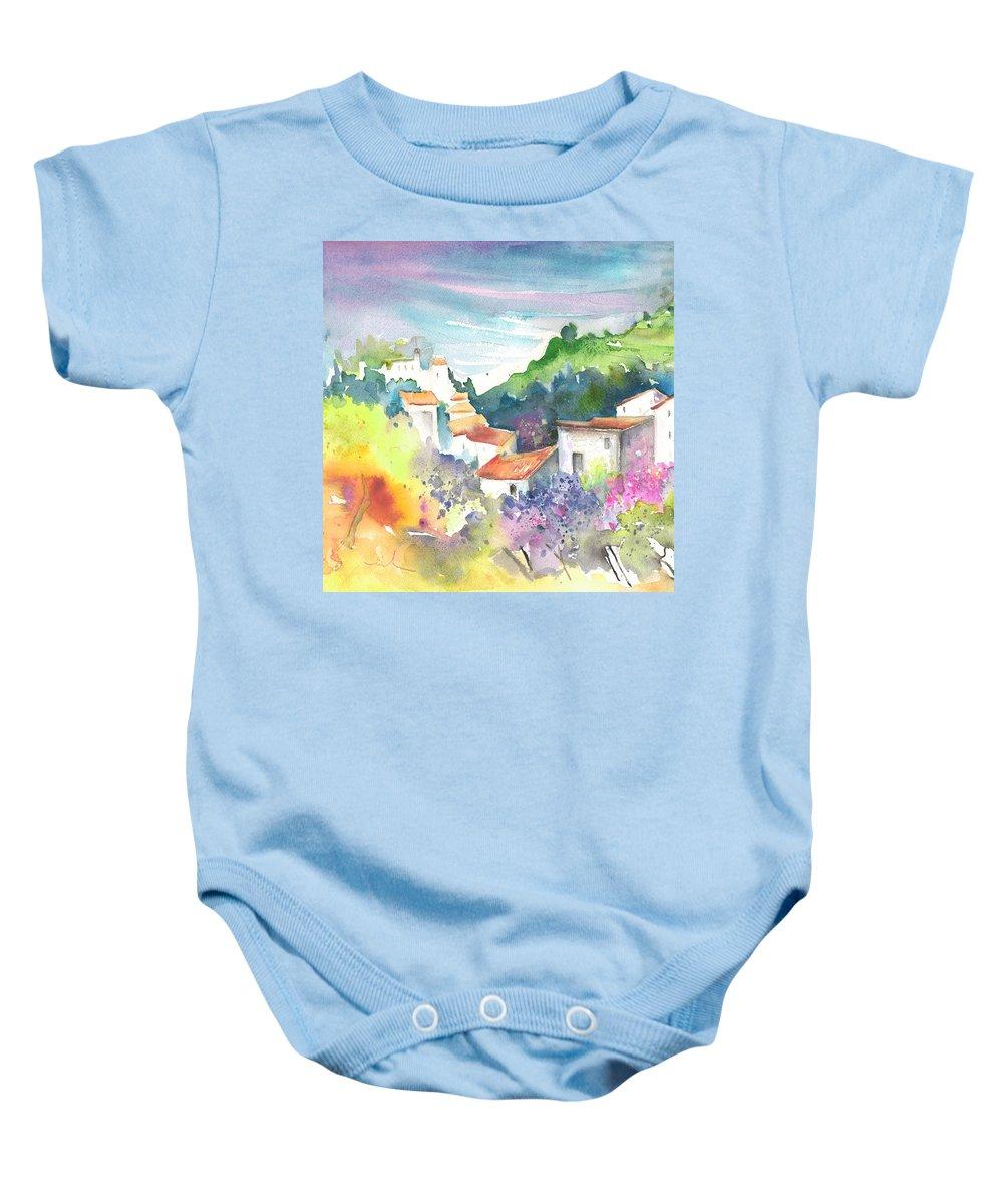Spain Baby Onesie featuring the painting Gatova Spain 03 by Miki De Goodaboom