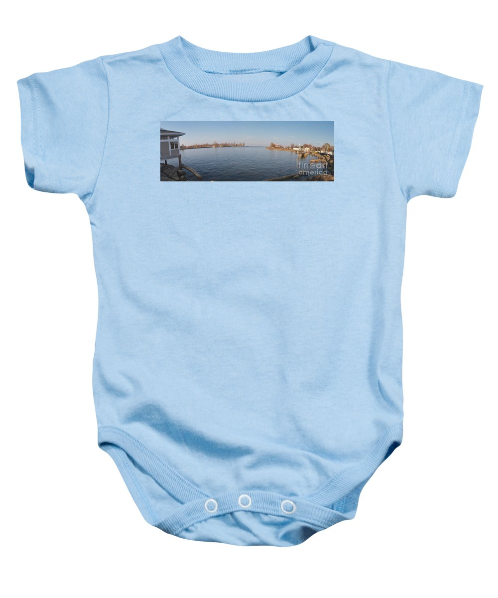 Genesee River Baby Onesie featuring the photograph Genesee Basin by William Norton