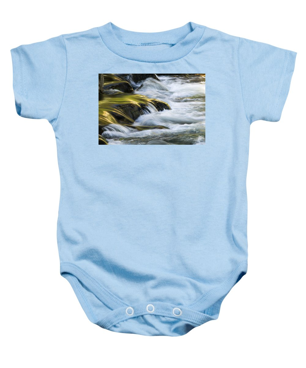 Glacier National Park Baby Onesie featuring the photograph Glacier Stream 2 Glacier National Park by Rich Franco