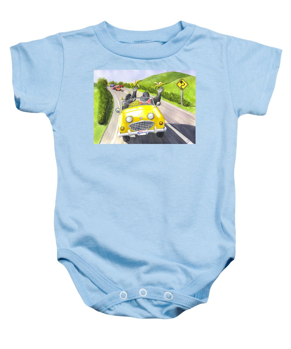 Banana Baby Onesie featuring the painting Going Bananas by Catherine G McElroy