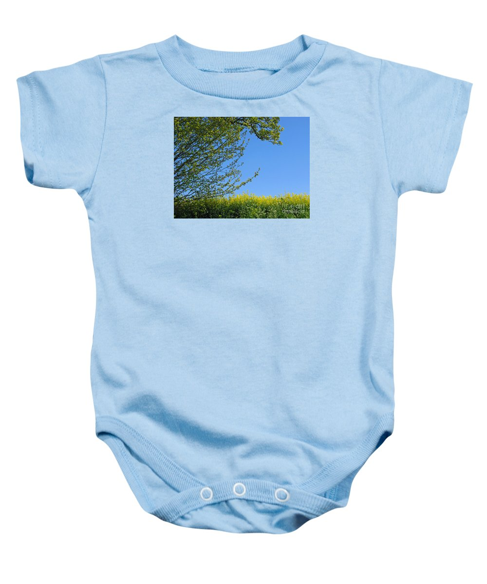 Spring Baby Onesie featuring the photograph Golden Growing Season by Ann Horn