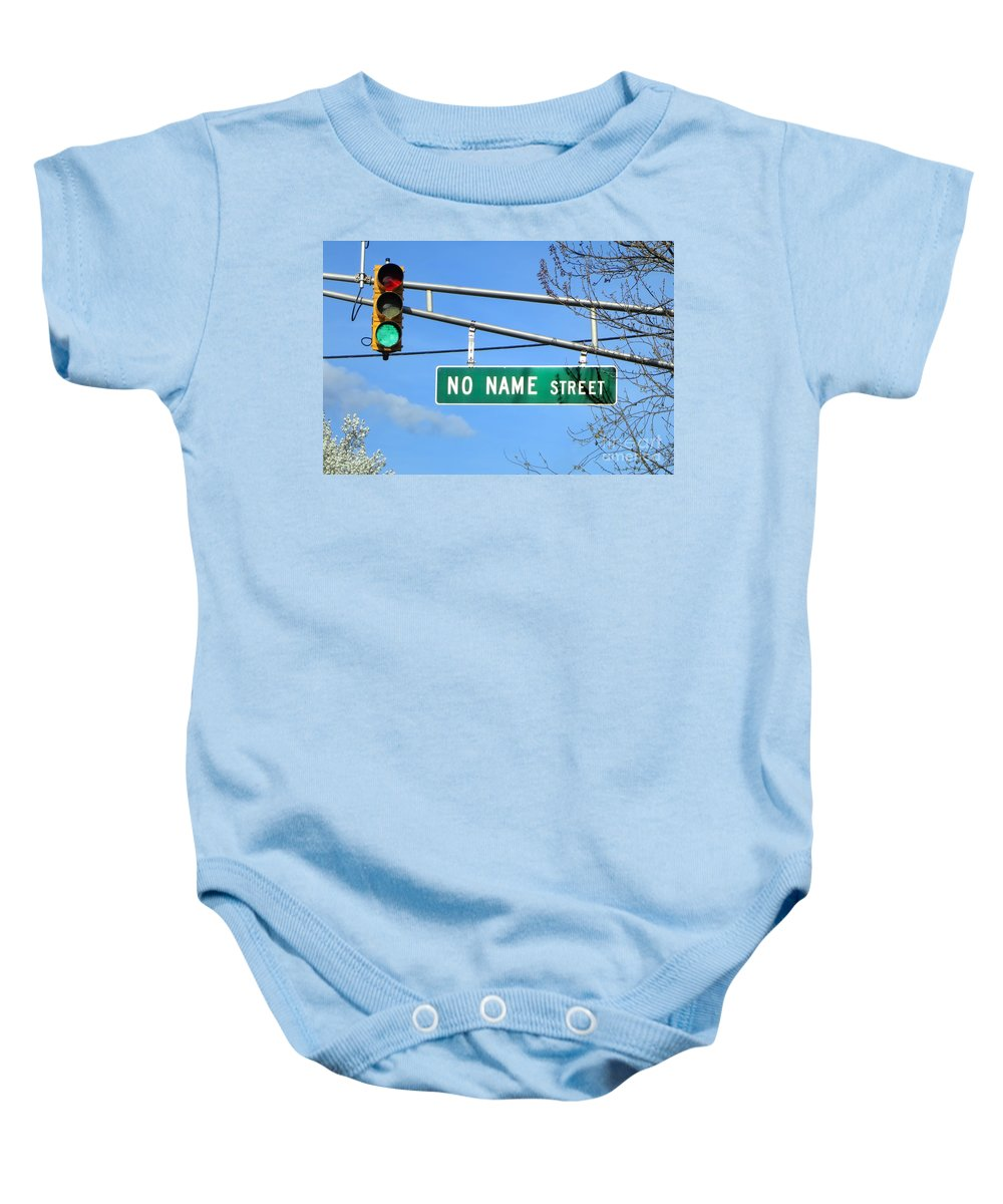 Name Baby Onesie featuring the photograph Gps Challenged by Olivier Le Queinec