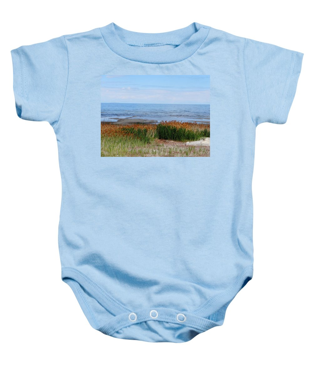 Salt Lake Photographs Baby Onesie featuring the photograph Great Salt Lake by Dan Sproul