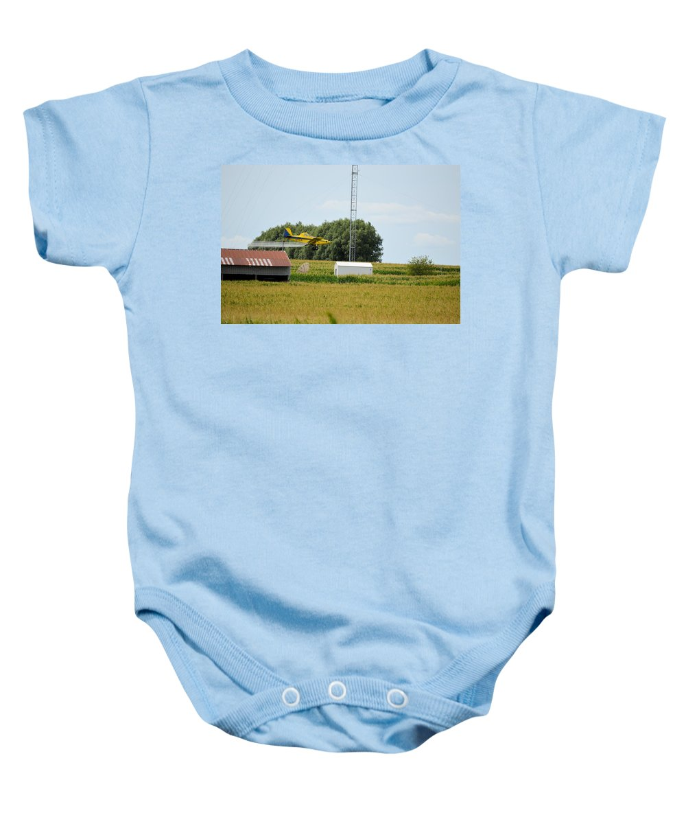 Airplane Baby Onesie featuring the photograph Guts by Bonfire Photography