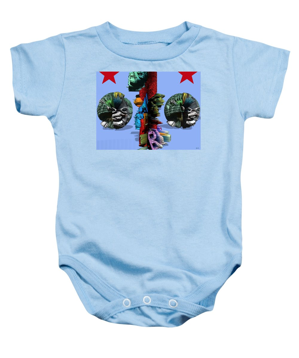 Digital Art Baby Onesie featuring the painting Happy Times In Wonderland by Robert Margetts
