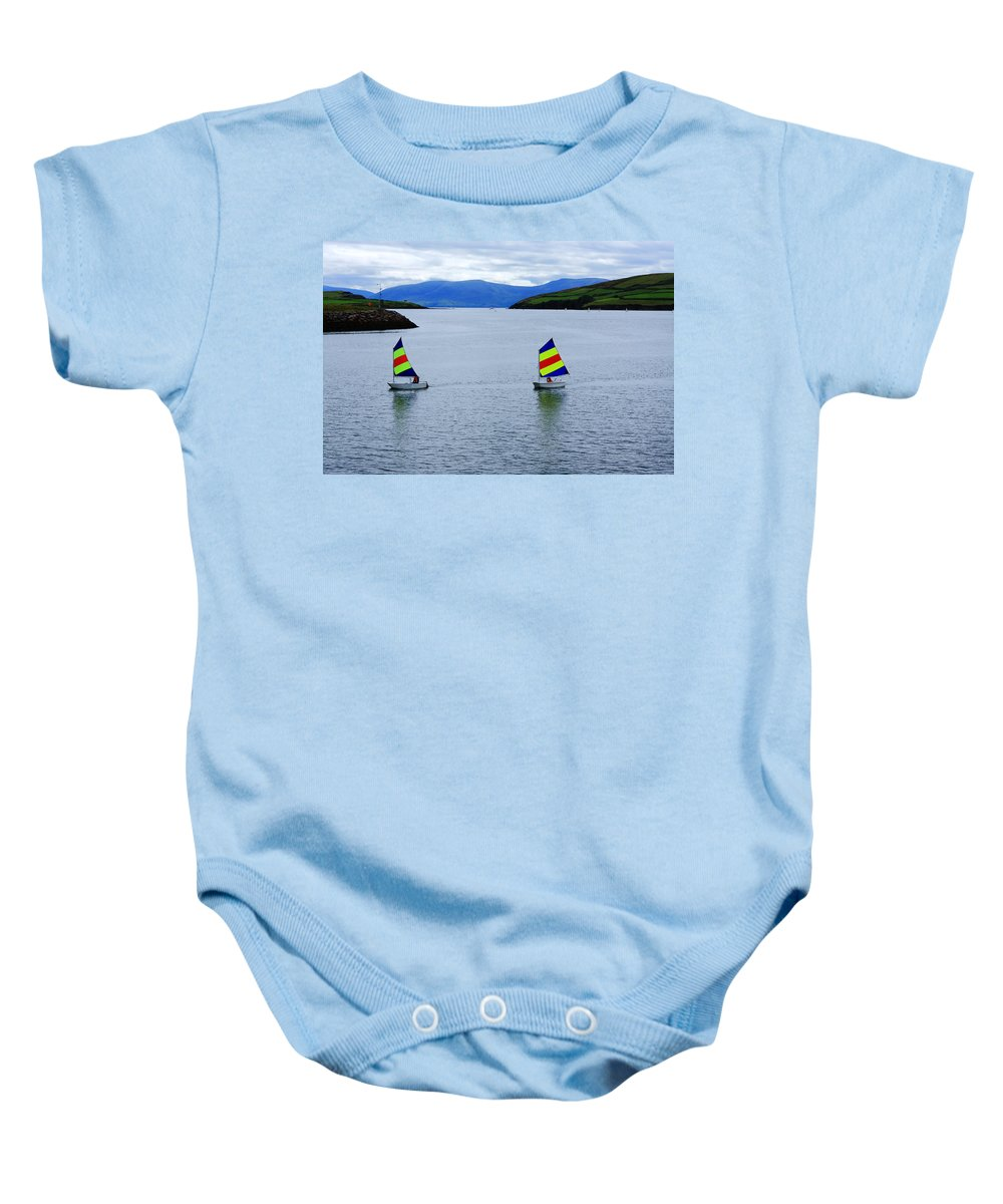 Ireland Baby Onesie featuring the photograph Harbour Sailing by Aidan Moran