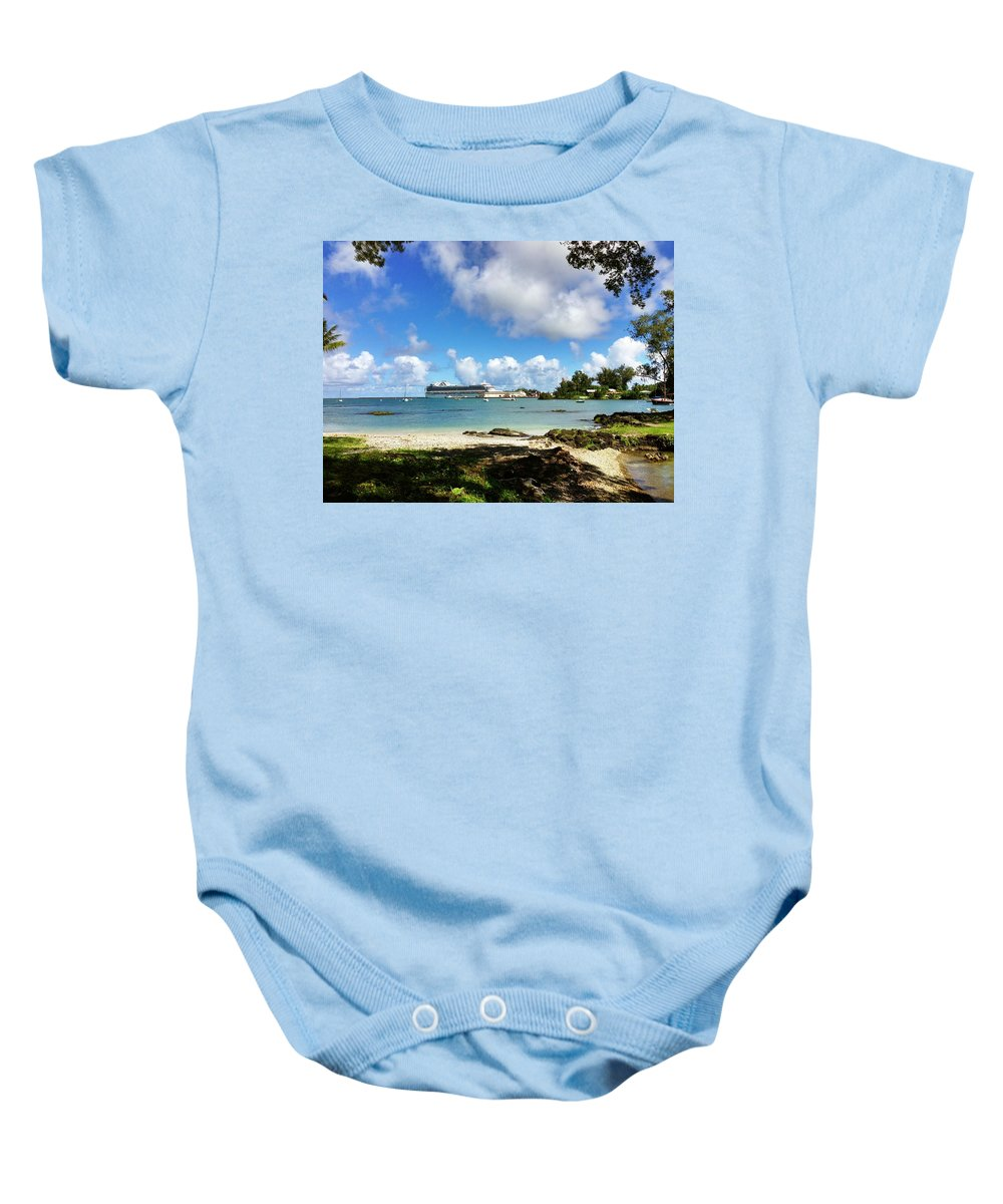 Hawaiiana Baby Onesie featuring the digital art Hawaiiana 32 by D Preble