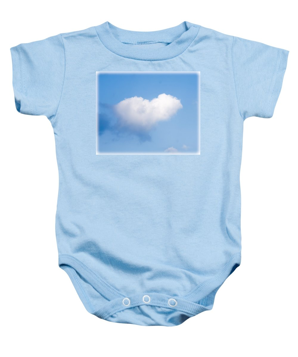 Cloud Baby Onesie featuring the photograph Heart Cloud by Shirley Tinkham