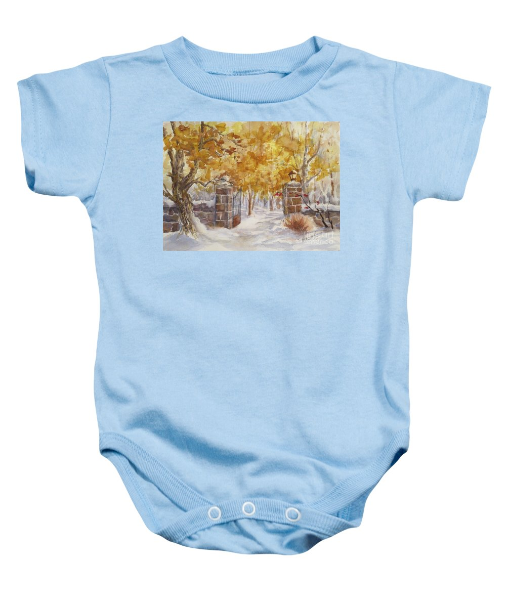 Painting Baby Onesie featuring the painting Heaven Beyond by Mohamed Hirji