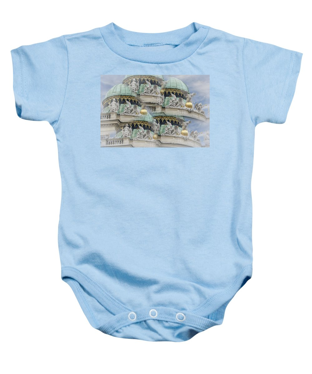 Austria Baby Onesie featuring the photograph Hofburg Palace Dome by Joan Carroll