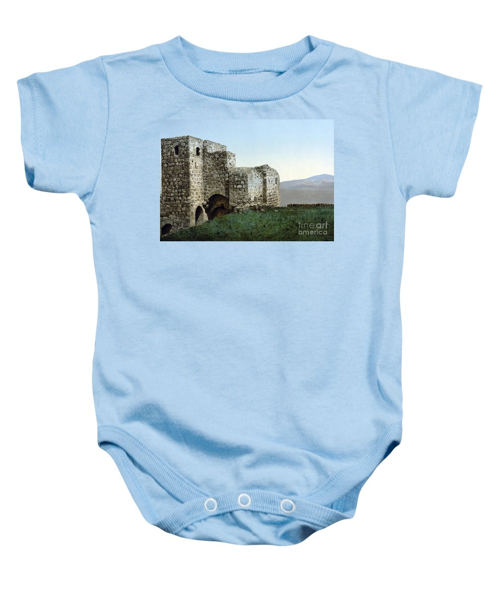 1895 Baby Onesie featuring the photograph Holy Land: Ruins by Granger