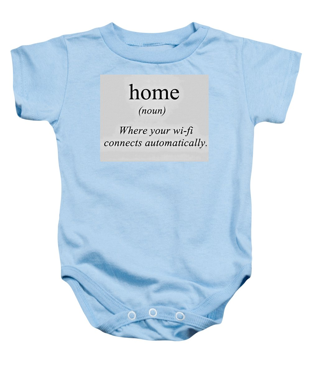Home Baby Onesie featuring the painting Home And Wifi by Florian Rodarte