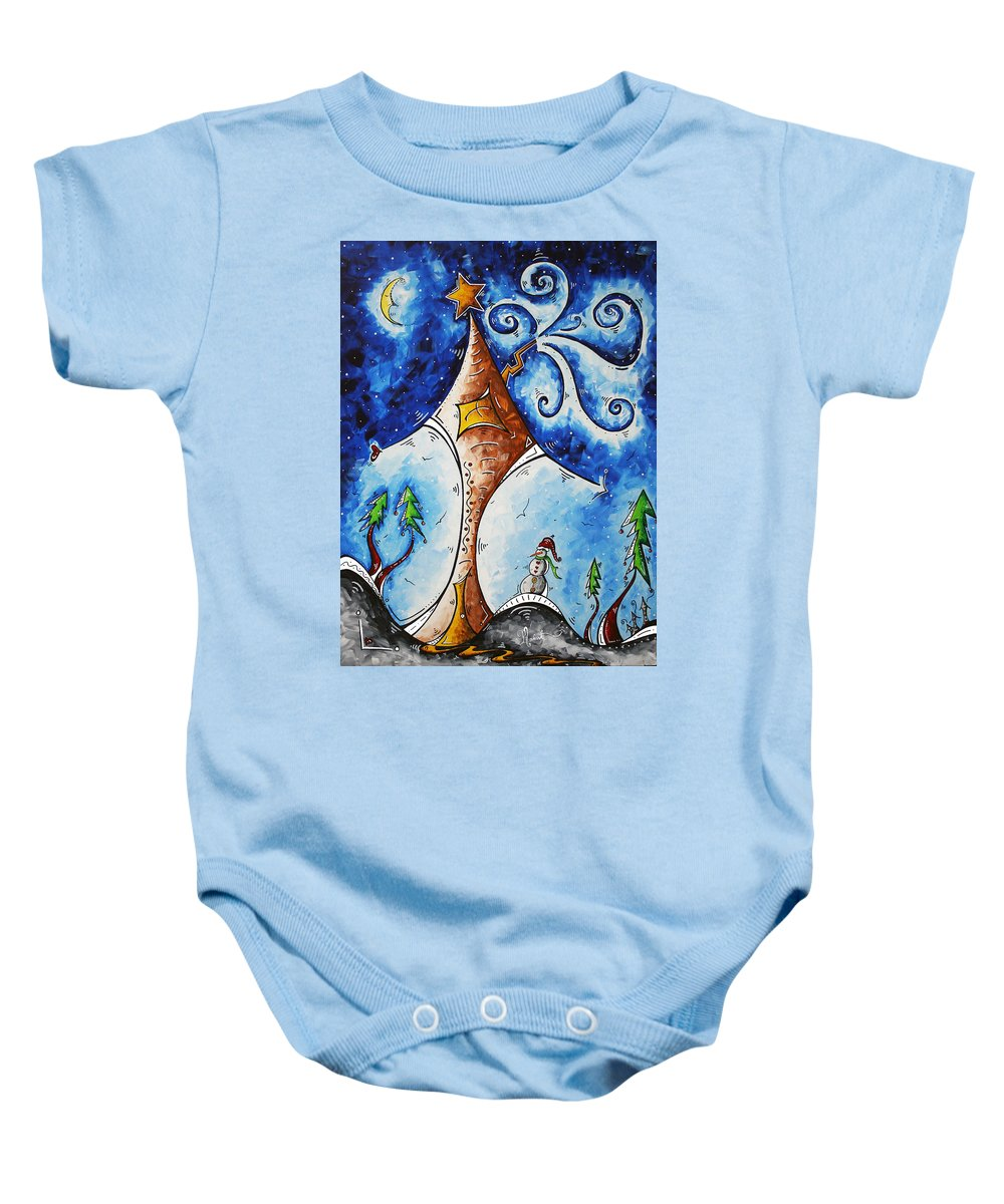 Wall Baby Onesie featuring the painting Home Sweet Home by Megan Duncanson