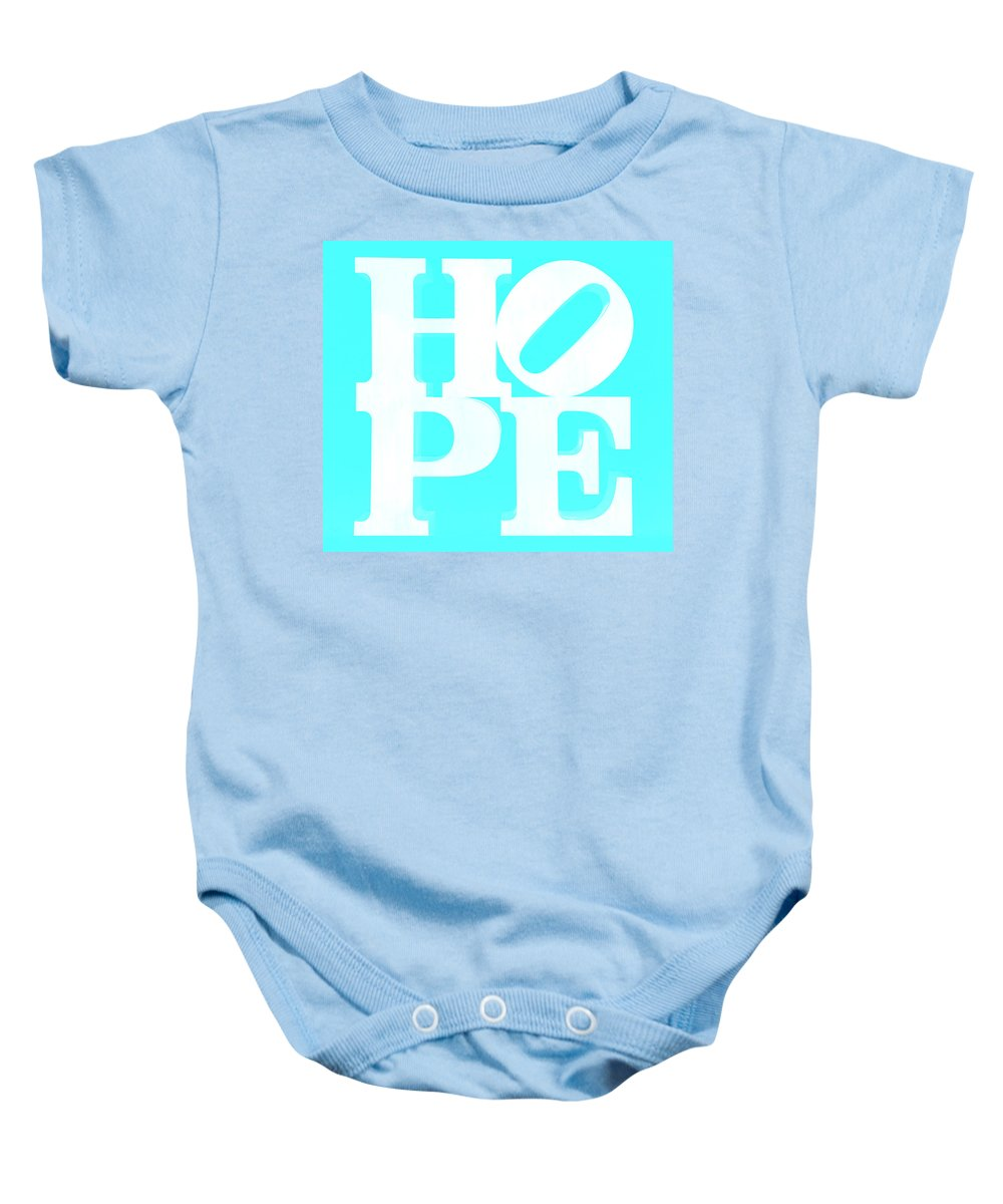 Hope Baby Onesie featuring the photograph Hope Inverted Aquamarine by Rob Hans