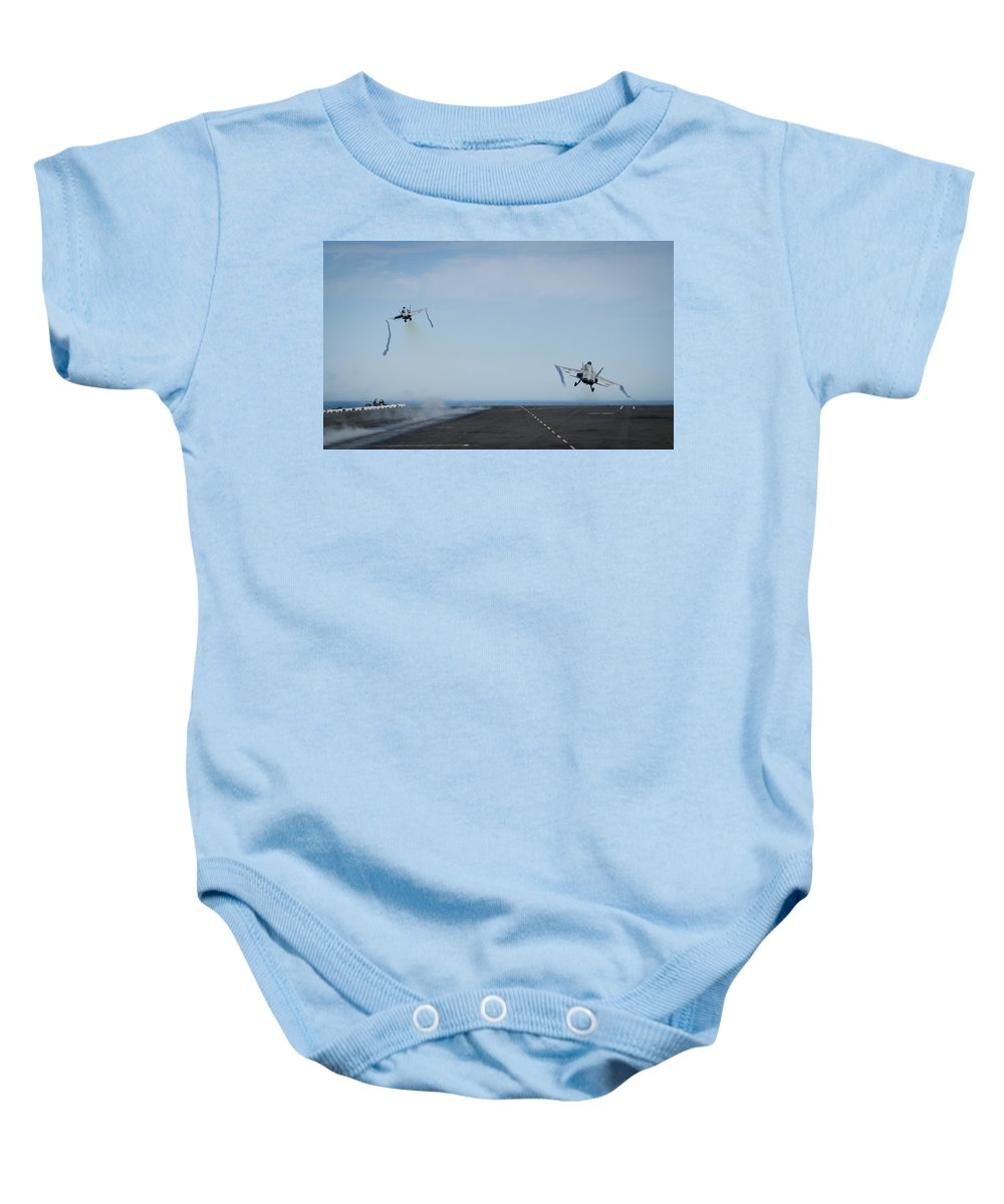 Sky Baby Onesie featuring the photograph Hornets To Flight by Mountain Dreams
