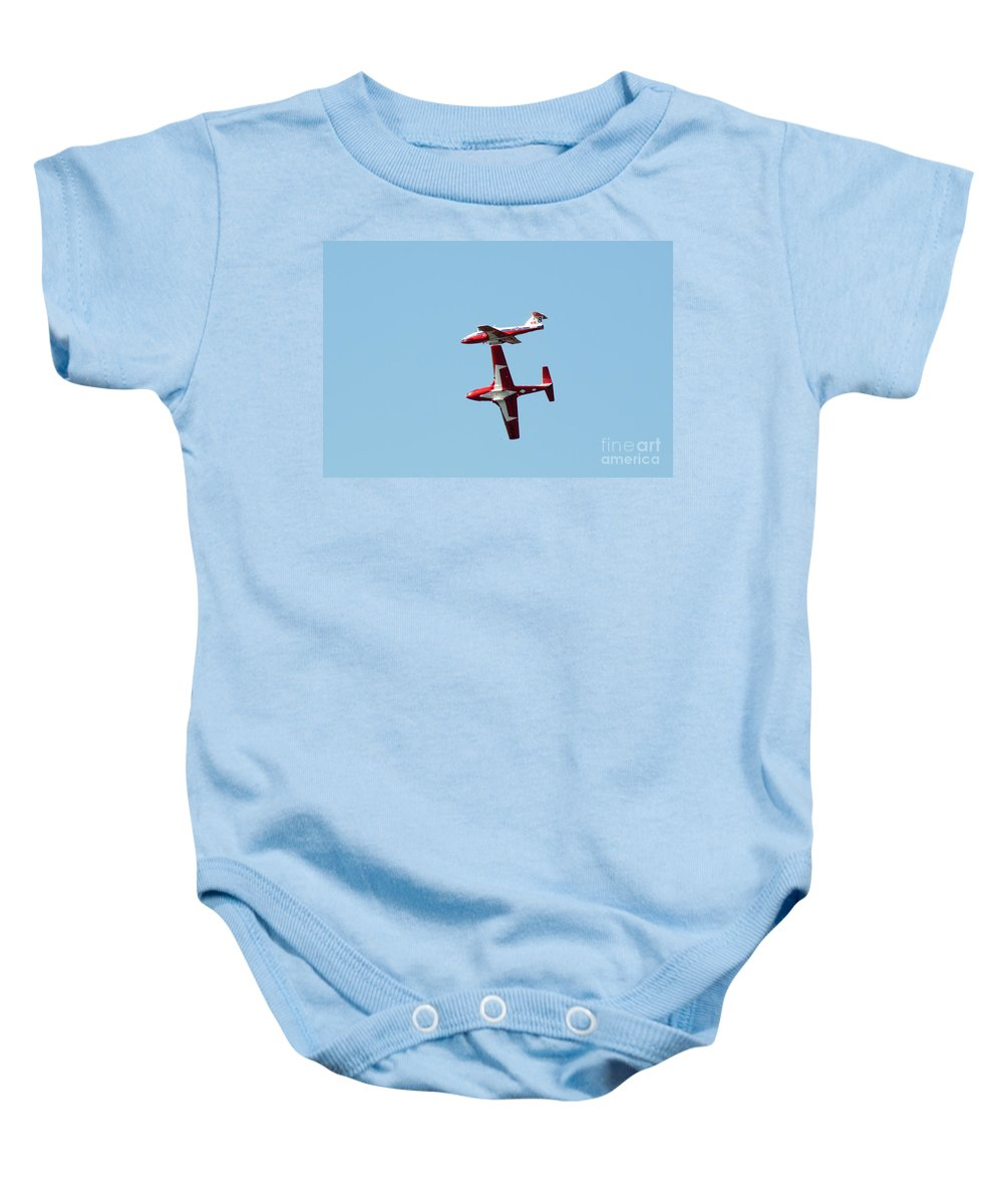 Snowbirds Baby Onesie featuring the photograph How Close Can You Be by Vivian Christopher