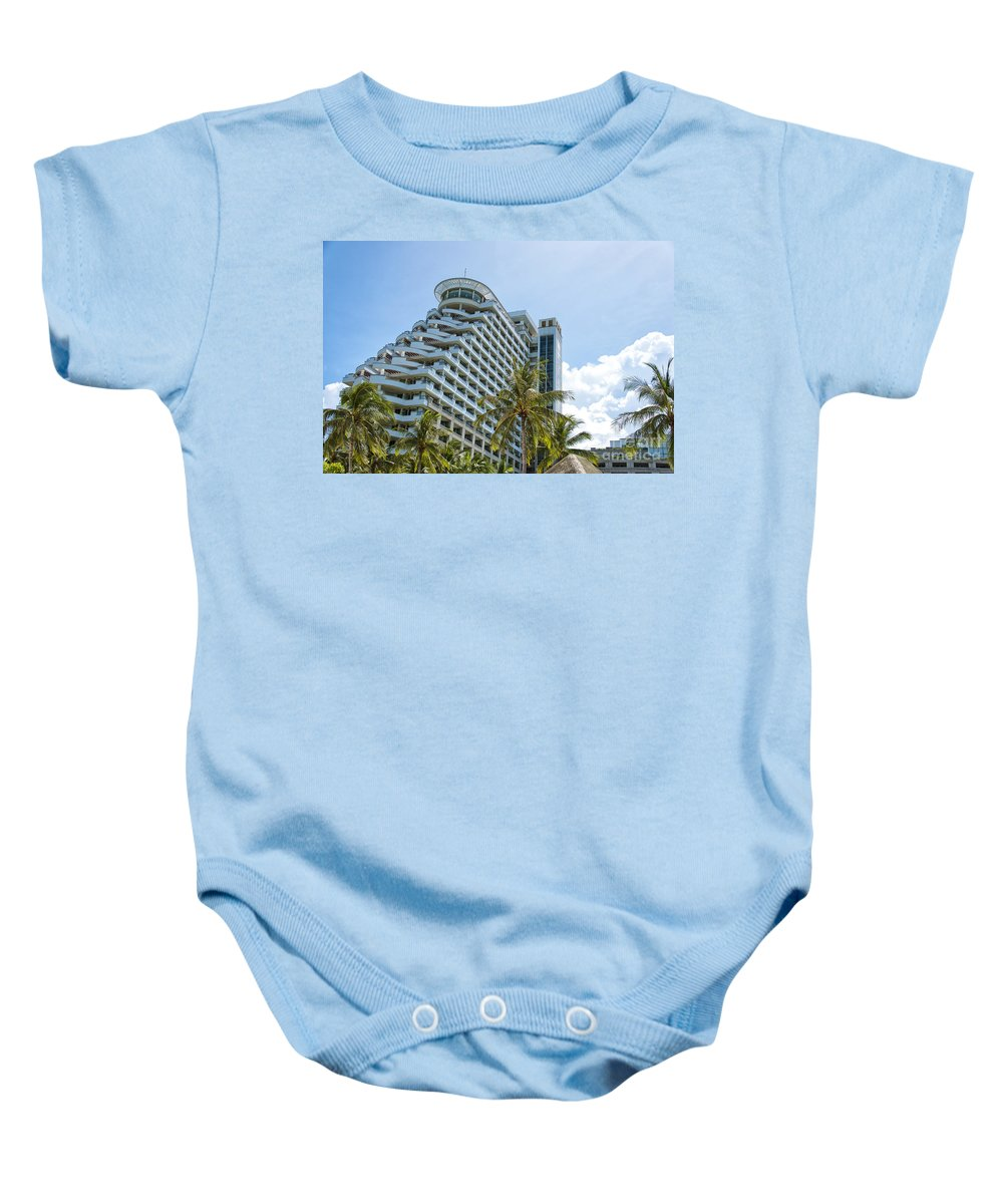 Resort Baby Onesie featuring the photograph Hua Hin Hotel by Antony McAulay