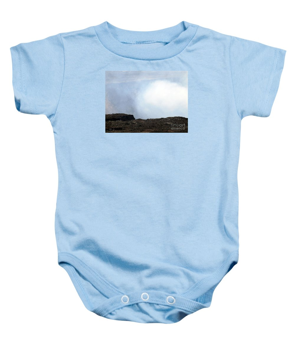 Fine Art Photography Baby Onesie featuring the photograph Huff And Puff by Patricia Griffin Brett