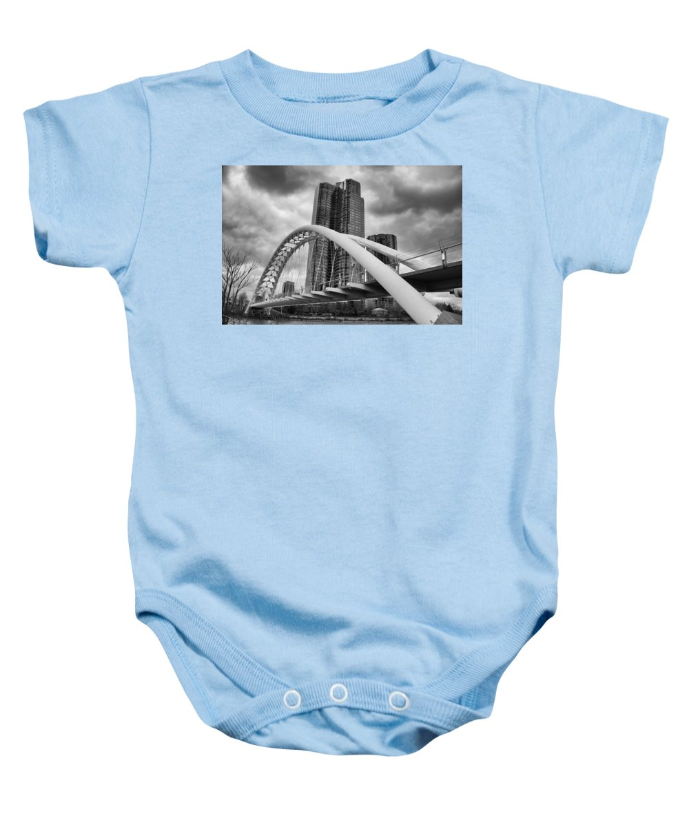 Bridges Baby Onesie featuring the photograph Humber River Arch Bridge 1392 by Guy Whiteley