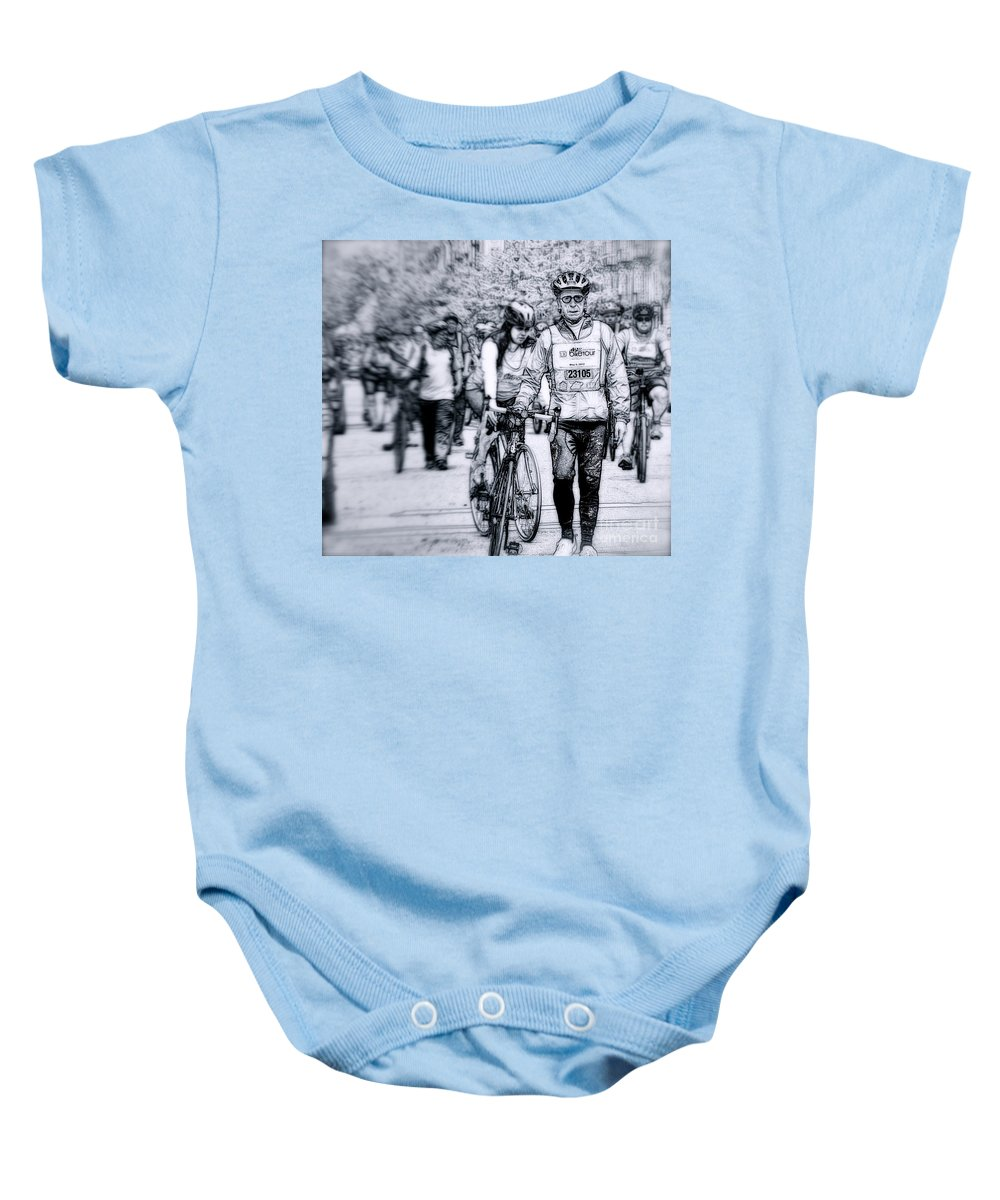 New York City Baby Onesie featuring the photograph I Got This by Terry Wallace