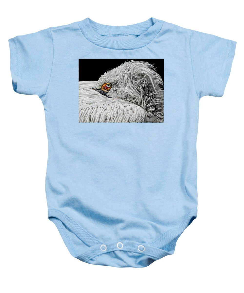 Animal Baby Onesie featuring the photograph I See You by Joachim G Pinkawa